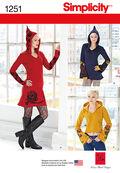 Simplicity Pattern 1251D5 4-6-8-10-1-Dress