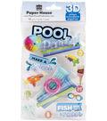 Paper House 3D Stickers 4.5\u0022x8.5\u0022-Pool Party