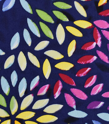 Bottomweights Stretch Twill Fabric 57''-Multi Color Leaves