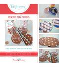 Hazel & Ruby Crafternoon Stenciled Cork Coasters