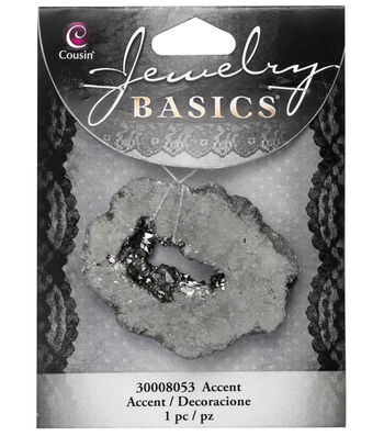 Cousin® Jewelry Basics Geode Accent-Silver