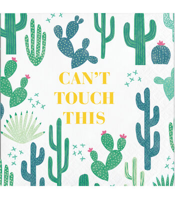 Cactus 20 pk 5''x5'' Beverage Napkins-Can't Touch This