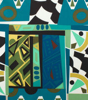 "Alexander Henry Cotton Fabric 44""-Kali Geo Safari Pool, , hi-res"