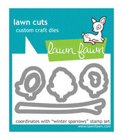 Lawn Fawn Lawn Cuts Custom Craft Die -Winter Sparrows, , hi-res