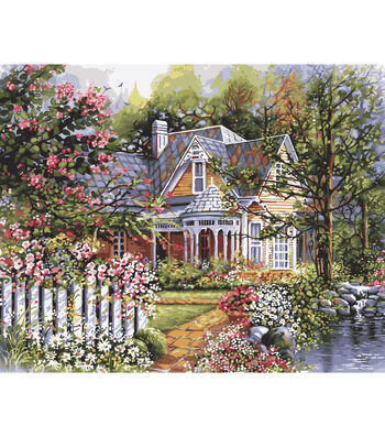 "Plaid Paint By Number Kit 16""x20"" Victorian Garden"