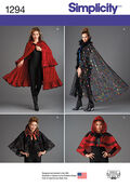 Simplicity Pattern 1294OS Misses\u0027 Capes-One Size
