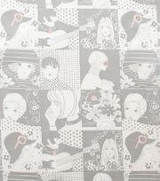 "Alexander Henry Cotton Fabric 44""-Chelsea Grey Tea, , hi-res"