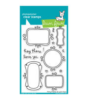 "Lawn Fawn Clear Stamps 4""X6""-Flirty Frames, , hi-res"