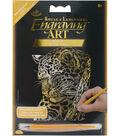 Royal Langnickel Gold Foil Leopard In Tree Engraving Art Mini Kit