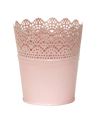 Easter Small Metal Cutout Basket-Pink