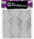 Brutus Monroe 5.75\u0027\u0027x5.75\u0027\u0027 Clear Stamps -Wave Background