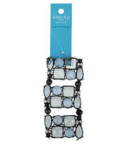 hildie & jo™ 3.75''x1.75'' Beads Strand-Gray, , hi-res