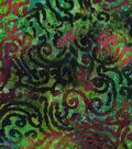 Legacy Studio™ Batik Fabric 44\u0022-Scrolls on Green