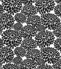 Quilter\u0027s Showcase™ Fabric 44\u0027\u0027-Black Mum Floral