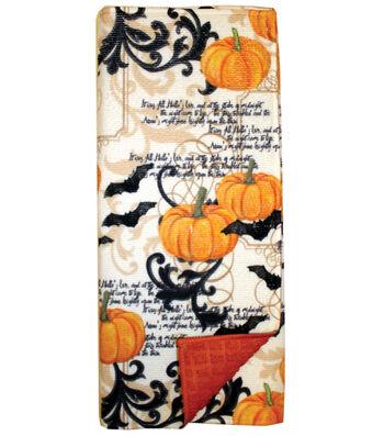 Maker's Halloween Ornate Drying Mat-Pumpkins & Bats