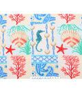 Anti-Pill Fleece Fabric 61\u0022-Coral Nautical Patchwork