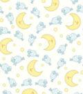 Nursery Flannel Fabric 44\u0022-Sheep Over Moon