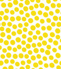 Jennifer Paganelli Cotton Fabric-Yellow Dots