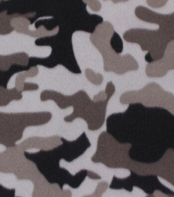 "Blizzard Fleece Fabric 59""-Grey Multi Camo"