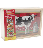 Melissa & Doug Farm Animals Puzzles in a Box, , hi-res