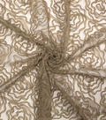 All That Glitters Embroidered Mesh Fabric 59\u0022-Rosebud Latte