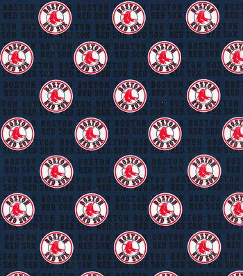 """Boston Red Sox Cotton Fabric 58""""-Mini Print"""