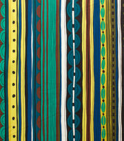 "Alexander Henry Cotton Fabric 44""-Nyanza Stripe Safari Pool, , hi-res"