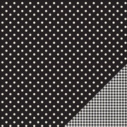 "American Crafts Basics Black Dot Double-Sided Cardstock 12""x12"", , hi-res"