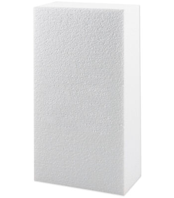 "Plasteel Corp Smooth Foam Block 2""X4""X8"" 1Pk-White"