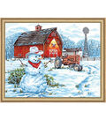 Paint By Number Kit 20\u0022X16\u0022-Country Snowman