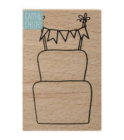 Hampton Art™ Cam & Chloe Mounted Stamp-Celebrations Cake, , hi-res