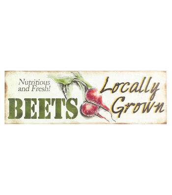 Wood Wall Plaque-Beets