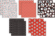 "Disney® Mickey Black/White/Red Paper Pack 12""X12"" 10 Sheets-2 Each/5 Textured Papers, , hi-res"