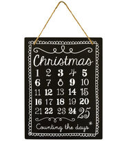 Fab Lab™ Christmas Chalkboard with Jute Hanger-Christmas Countdown, , hi-res