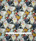 Spring Sheen Scuba Knit Fabric 57\u0022-Floral Triangle