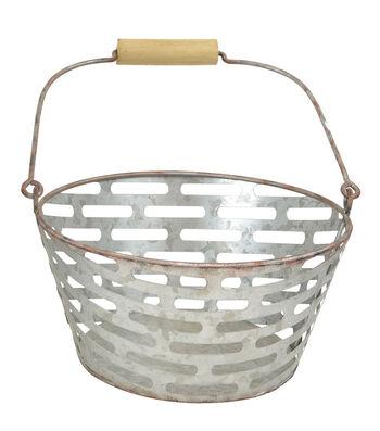 Farm Storage Medium Galvanized Bucket