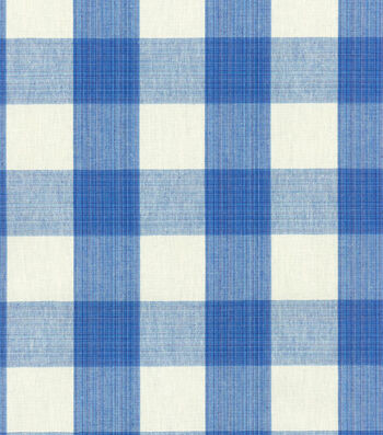 "Home Decor 8""x8"" Swatch Fabric-Williamsburg Stratford Check Blubell"