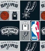 """San Antonio Spurs Cotton Fabric 44""""-Patch, , hi-res"""
