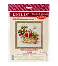 RIOLIS Counted Cross Stitch Kit 11.75\u0022X11.75\u0022-Basket Of Raspberries