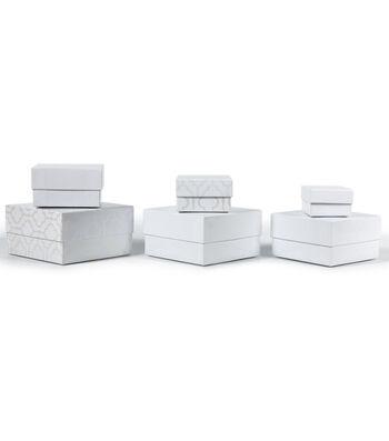 DCWV Designer Set of Nested Boxes White