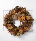 Blooming Autumn 23\u0027\u0027 Oak Acorn Berry Twig Wreath-Orange & Green