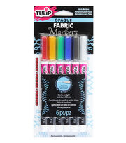 Tulip® 6 Pack Opaque Fabric Markers-Primary, , hi-res