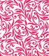 Quilter\u0027s Showcase™ Fabric 43\u0027\u0027-Raspberry Floral Scroll on White