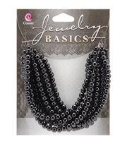 Jewelry Basics 4mm Round Opaque Beads 300/Pkg-Black, , hi-res