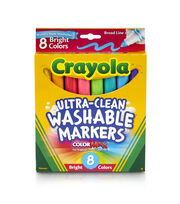 Crayola Washable Broad Line Markers 8/Pkg-Bright Colors, , hi-res
