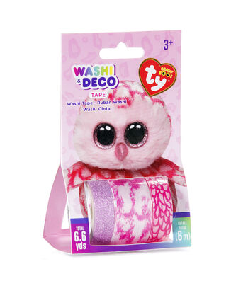 Ty Inc. Beanie Boos® 3 Pack Washi & Deco Tapes-Pinky™ Owl