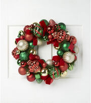 "Blooming Holiday 22"" Ornament Wreath, , hi-res"