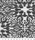 Nicole Miller Shadow Stripe Fabric-Modern Floral Black