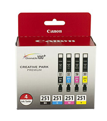 Canon CLI-251 BK/CMY Ink 4 Pack