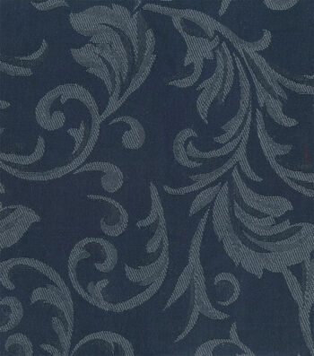 "Signature Series Solid Jacquard Fabric 54""-Navy"